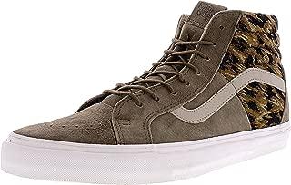 Vans Men's Sk8-Hi 46 (Italian Weave/Pig Suede) Teak Skateboarding Shoe VN0004O8IEY