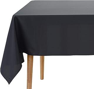Amazon Brand - Umi Rectangulaire Nappe Couleur Grise Foncé Impermeable en Table Basse pour Enfant Fille 140x240 cm Protege...