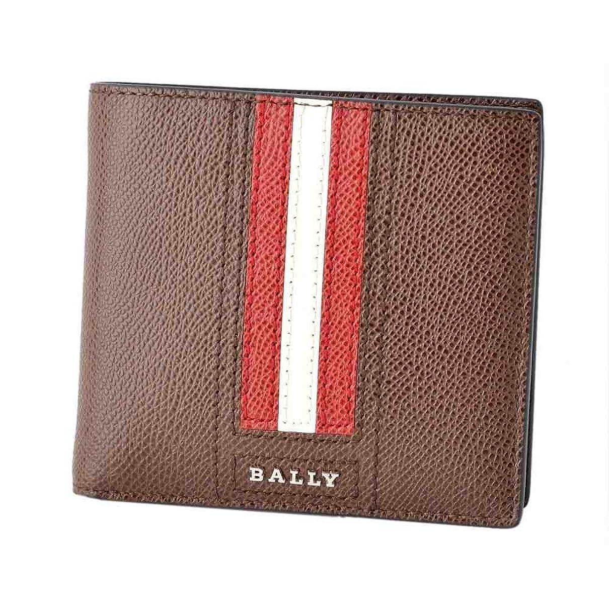 クライマックスコメンテーターにバリー BALLY TEISEL.LT 211 6219954 バリーストライプ 小銭入れ付 二つ折り財布 [並行輸入品]