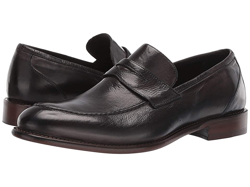 1940s Mens Shoes | Gangster, Spectator, Black and White Shoes JM EST. 1850 Bryson Penny Charcoal Mens Shoes $285.00 AT vintagedancer.com