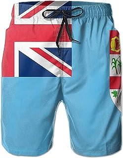 Bandera de Las Islas Fiji Verano Hombres Bañadores de Secado rápido Pantalones Cortos de Playa Pantalones