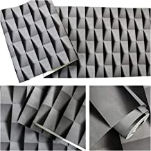 YOUPIN Grey,White vinyl Modern 3d stereoscopic Pattern Wallpaper For office Bedroom Living Room Walls Luxury Wall Paper Ro...