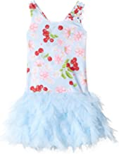Kate Mack Girls' Cherries Jubilee Dress W/Netting Skirt