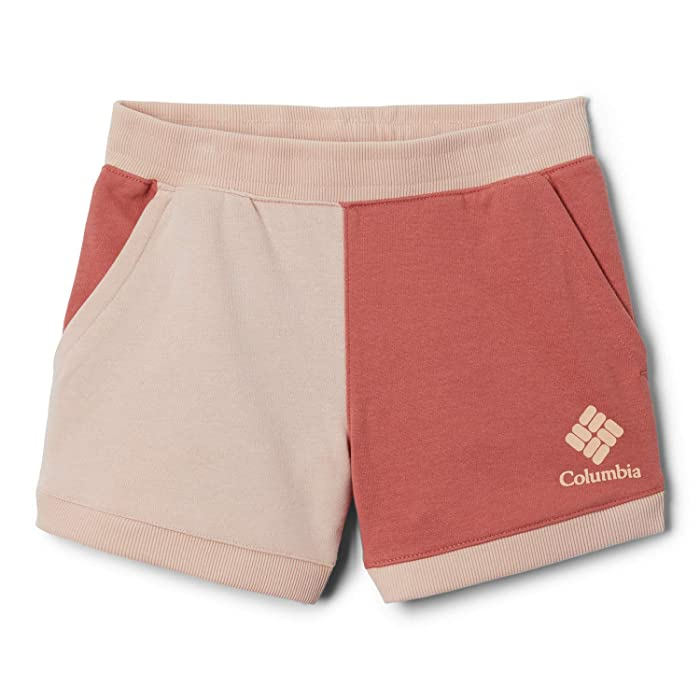 Columbia Kids  French Terry Shorts (Little Kids/Big Kids) (Dark Coral/Peach Cloud) Girls Shorts
