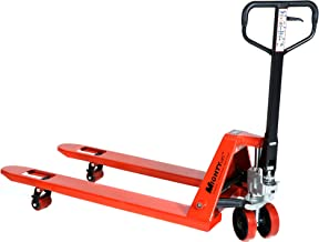 "Mighty Lift ML55C Heavy Duty Pallet Jack Truck, Wheels, Polyurethane on Steel, 50"" Height, 27"" Width, 48"" Length, 5500 lb...."