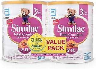 Abbott Similac Total Comfort 2'-FL Stage 3 Toddler Milk Formula, Pack of 2 x 820g, 1 year onwards, 1.64 kg