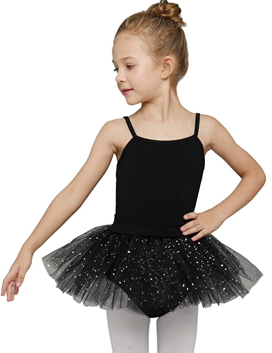 MdnMd Girls' Camisole Tutu Leotard Dress