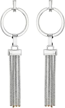 Tubetto Tassel Hoop Bar Post Earrings