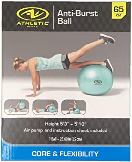 Exercise/Fitness/Work Out Ball 65 cm with Pump Anti Burst Mint Green