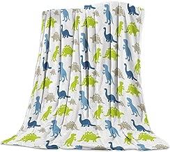 T&H Home Fuzzy Weighted Blanket Dinosaur Blankets, Cute Cartoon Dinosaur Design Warm Flannel Throw Blanket for Baby Girls Boys Adult Home Office Sofa Chair Cars 60