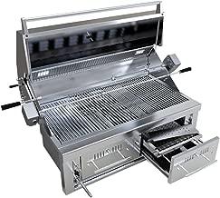 SUNSTONE EMCHDZ42 Hybrid Dual Zone Charcoal/Wood Burning Grill