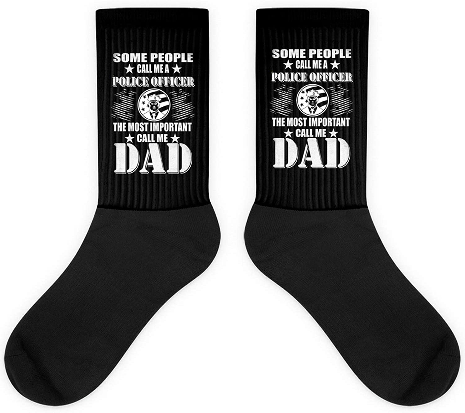 Some People Call Me A Police Officer Dad Father Gift Sock