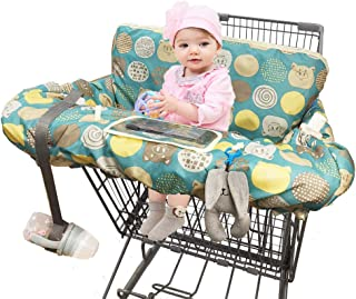 Shopping Cart Covers for Baby, Large High Chair Cover with Cell Phone Holder for Toddler boy Girl, Grocery Cart Cover, Padded(Polka Cute)