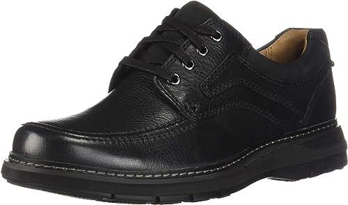 CLARKS Hommes's Un Ramble Lace noir Tumbled Leather 11 EEEE US