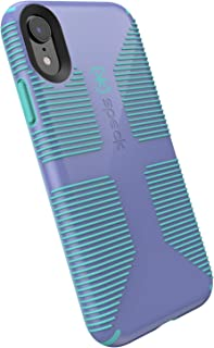 Speck Products CandyShell Grip iPhone Xs/iPhone X Case, Wisteria Purple/Mykonos Blue