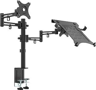 Bramley Power LCD LED doble monitor escritorio soporte brazo soporte, fuerte y luz de fundición de aluminio soporta hasta 10Kg 30