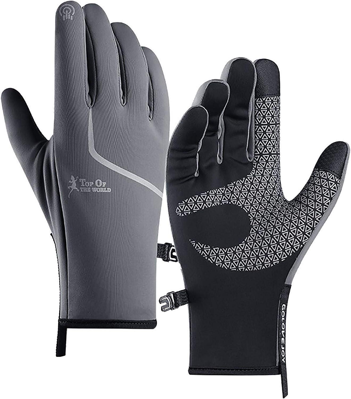 Winter Gloves for Men Women,Winter Outdoor Plus Velvet Waterproof Warm Non-slip Screen Cycling Gloves
