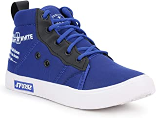 Extavo Sports Wear Blue Canvas Casual Running Shoes for Boys & Girls