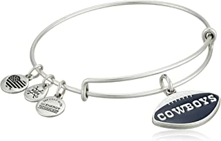 Alex and Ani Women's Color Infusion Dallas Cowboys Football II EWB Bracelet, Rafaelian Silver