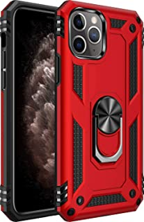 iPhone 11 pro max Case [ Military Grade ] 15ft. Drop Tested Protective Case   Kickstand   Compatible for Apple iPhone 11 pro max 6.5 Inch-Red