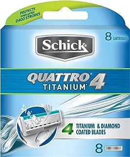 Schick Quattro Titanium Blades, 8 Pack