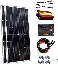 300W 2x 150W off-gird Kit de panel solar/20un controlador de carga de la batería CMG & 1000W dc12V-ac220V inversor para RV, barco y autocaravana fuente de alimentación
