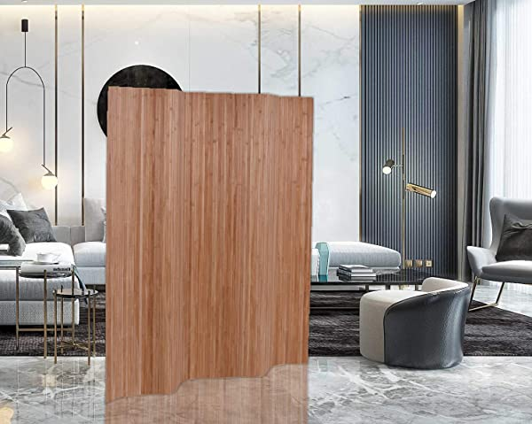 Legacy Decor Bamboo Room Divider Screen Panel Partition 71 High X 70 Wide Same As Of 4 Panels Oak Color