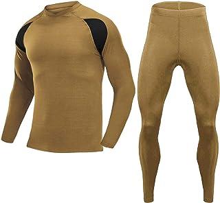 MAGCOMSEN Men's Thermal Underwear Super Warm Long Johns Set with Fleece Winter Gear