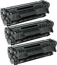 HQ Supplies Premium Compatible Replacements for 3 HP 12A Black Toner, 3 HP Q2612A for HP LaserJet 1010 1012 1015, 1018, 1020, 1022n, 1022nw, 3015, 3020, 3030, 3050, 3052, 3055, M1319, M1319f Printers