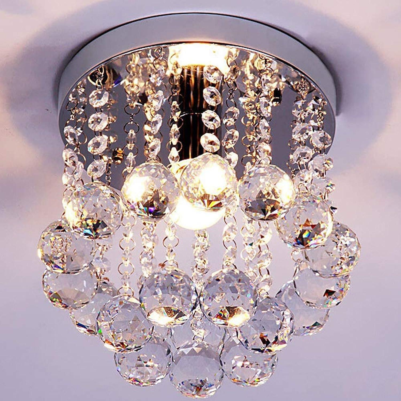 XLJ XLJKristall Deckenleuchte Eingang Gang Deckenlampe Modern Kreative Deckenlicht Wohnzimmer Schlafzimmer Esszimmer Esstisch Hotel Lampe 25H17cm E14 Lampenfassung