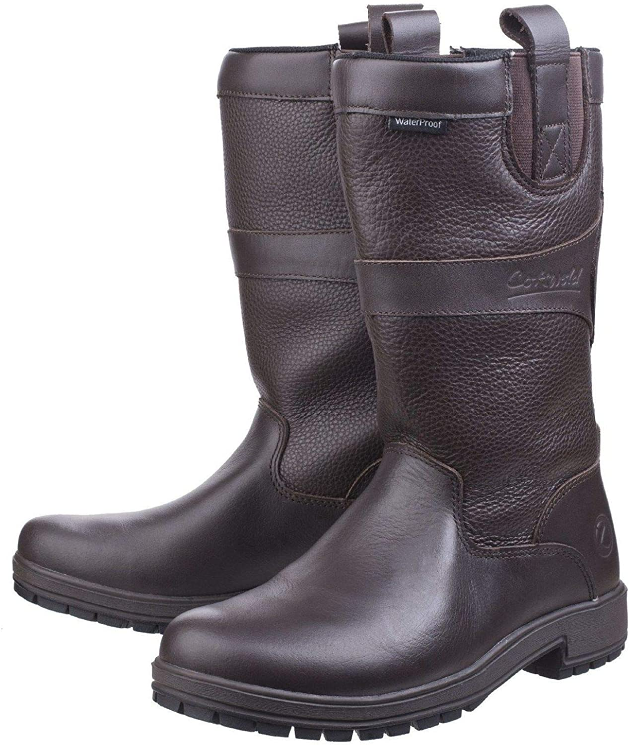 Cotswold Womens Ascot Waterproof Pull On Wellington Boot Brown Size UK 5 EU 38
