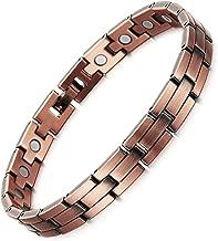 Rainso Mens Womens Magnetic Copper Bracelets for Arthritis Wristband Adjustable