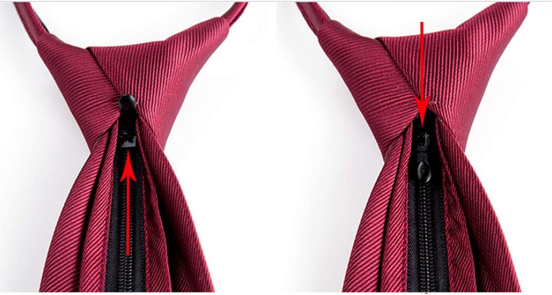 AIMPEAK Cravats, Men's Solid Color Tie, Stylish, Elegant, Casual, Formal Wear, Business Professional Marriage, Zipper, Wine Red