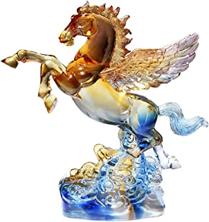 Colored Glaze Flying Horse Statue for Wealth,Home Decoration Attract Wealth and Good Luck,Feng Shui Decor