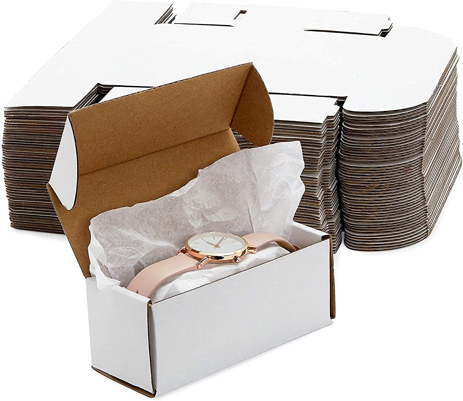 White Corrugated Mailer New item Boxes Shipping Supplies 2 in 5% OFF 5 x