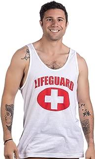 Lifeguard | White Lifeguarding Fitted Unisex Tank Top Uniform Costume Men Women