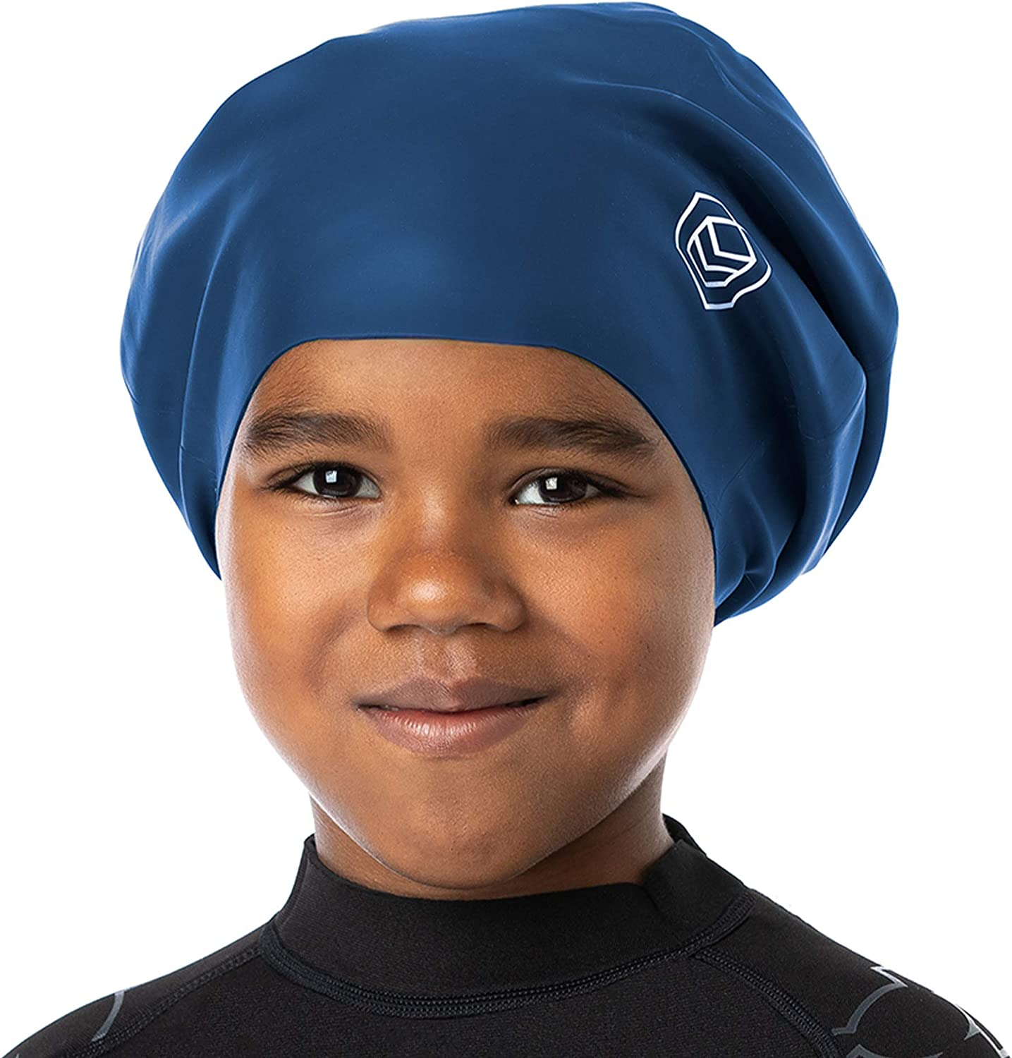 Weaves SOUL CAP JR Silicone Large Swimming Cap for Children Braids Designed for Long Hair Curls /& Afros Dreadlocks Hair Extensions