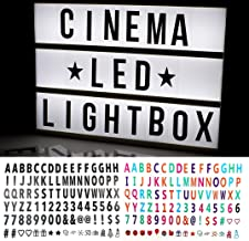 Store2508® Cinema Light Box A4 Size with Both Black & Colour Letters and Symbols Set - DIY Cinematic LED Light Box, Free Combination (A4 Size)