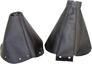 The Tuning-Shop Ltd for Nissan 300ZX 1989-2000 Shift & E Brake Boot Black Genuine Leather