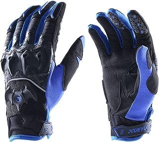Lidauto Motorcycle Gloves Motorbike Mittens Summer Winter Full Finger Leather Biker