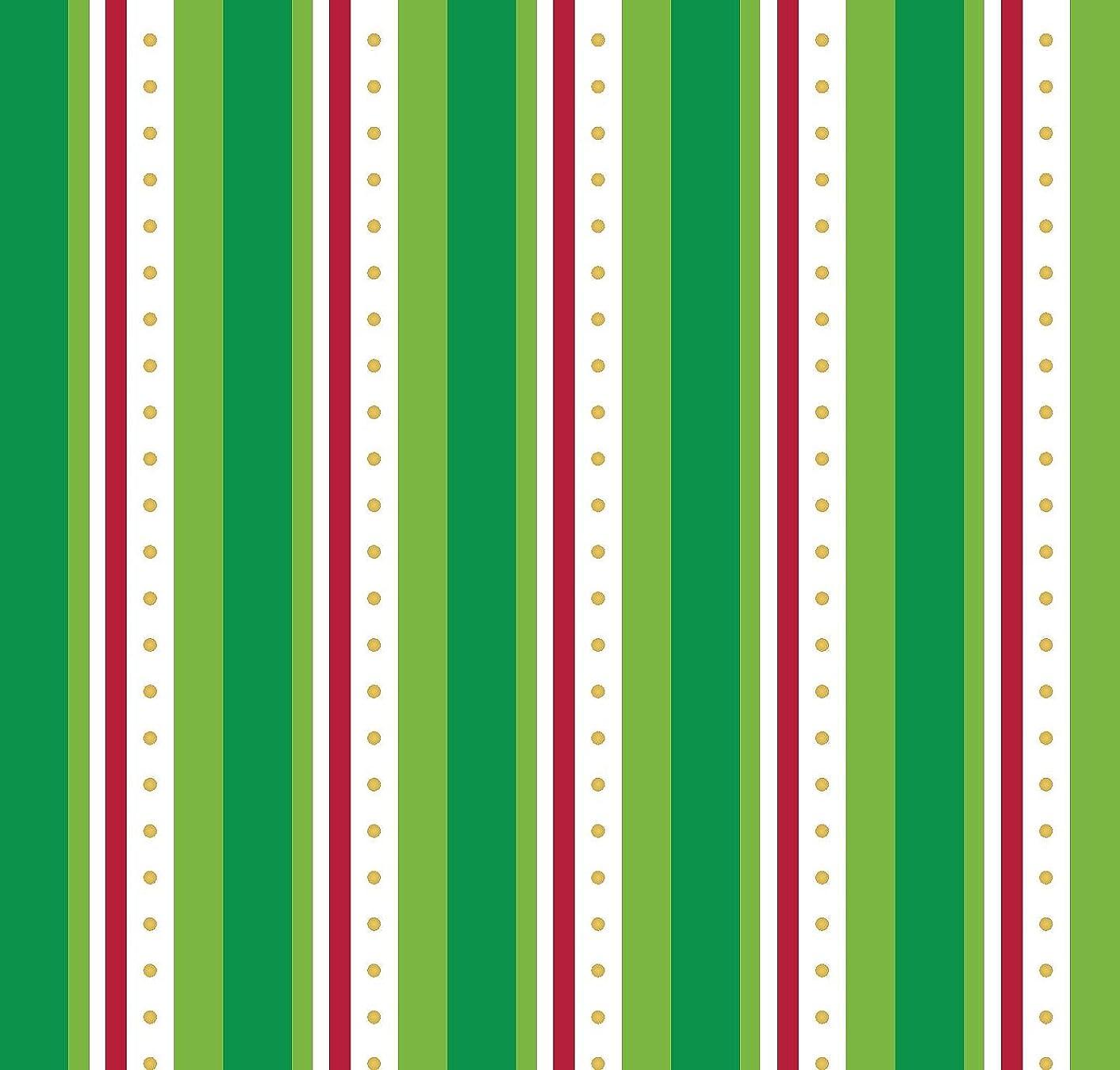 Glitter Stripe Green and Red Fabric, RTC Precut Fabric (1 Yard)