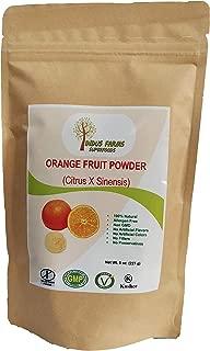 100% Natural Orange Fruit Powder, 8 oz, Eco-friendly Resealable pouch, No Artificial Flavors/Preservatives/Fillers, Halal, Kosher, Vegan-Friendly, Non-GMO