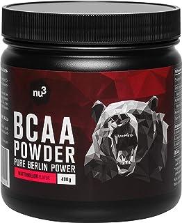 comprar comparacion nu3 BCAA en polvo - 400 g sabor sandía - 40 porciones de aminoácidos ramificados - Proporción óptima de leucina, isoleucin...