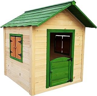 Outdoor Toys Casita Infantil de Madera Kela 138x116x132 cm - KNH1001