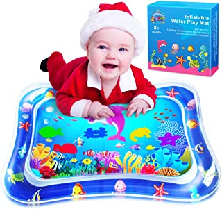 ZMLM Baby Tummy-Time Water Mat: Infant Toy Gift Activity Play Mat Inflatable Sensory Playmat Babies Belly Time Pat Indoor ...