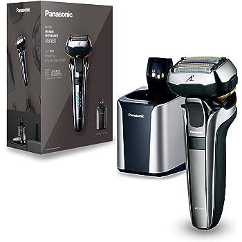 Panasonic ES-LV9Q-S803 Rasoio Elettrico Uomo Wet & Dry a 5 Lame con Testina Multi-Flex 5D, Motore Lineare Ultraveloce, Sensore di Rasatura, Tagliabasette, Indicatore Multi-LED, Lavabile, Silver