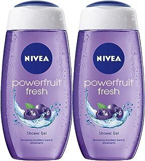 NIVEA Fresh Power fruit Acai Blue Berry Body Bath Shower Care Gel Wash Set for Women Men Dry Skin Eczema Combo Offer Pack ...