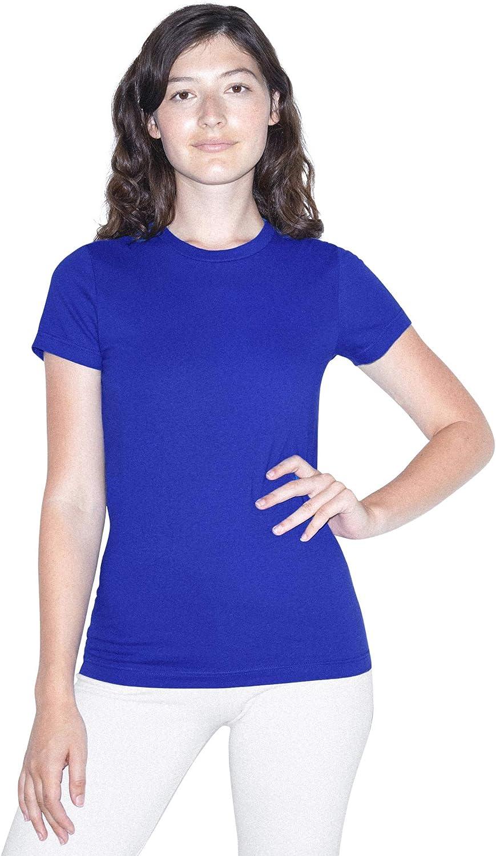 American Apparel Women's Fine Jersey T-Shirt Washington Mall Fitted Short Sleeve Philadelphia Mall