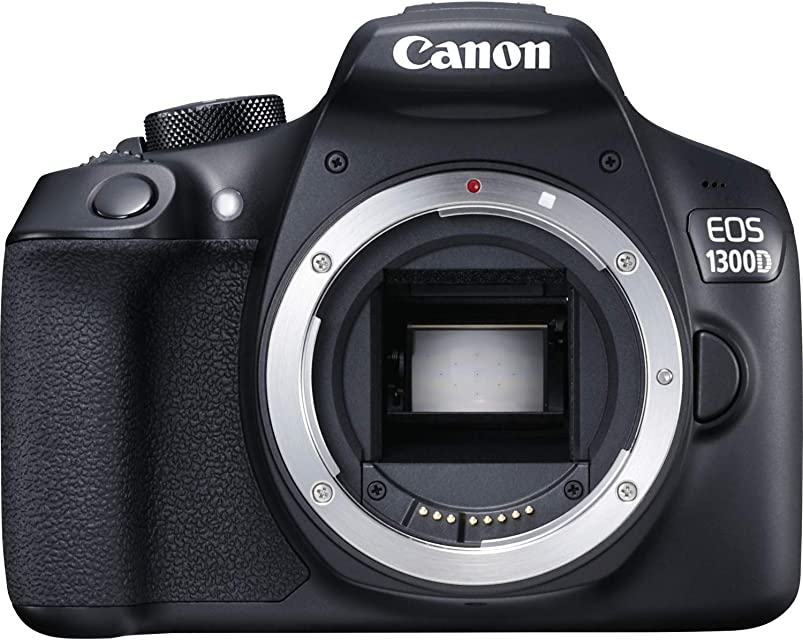 Canon EOS 1300D (versión importada) - Cámara réflex de 18 MP (Pantalla de 3 Full HD 18-55 mm f/3.5-5.6 NFC WiFi) Color Negro - Kit con Objetivo EF-S 18-55 mm IS II