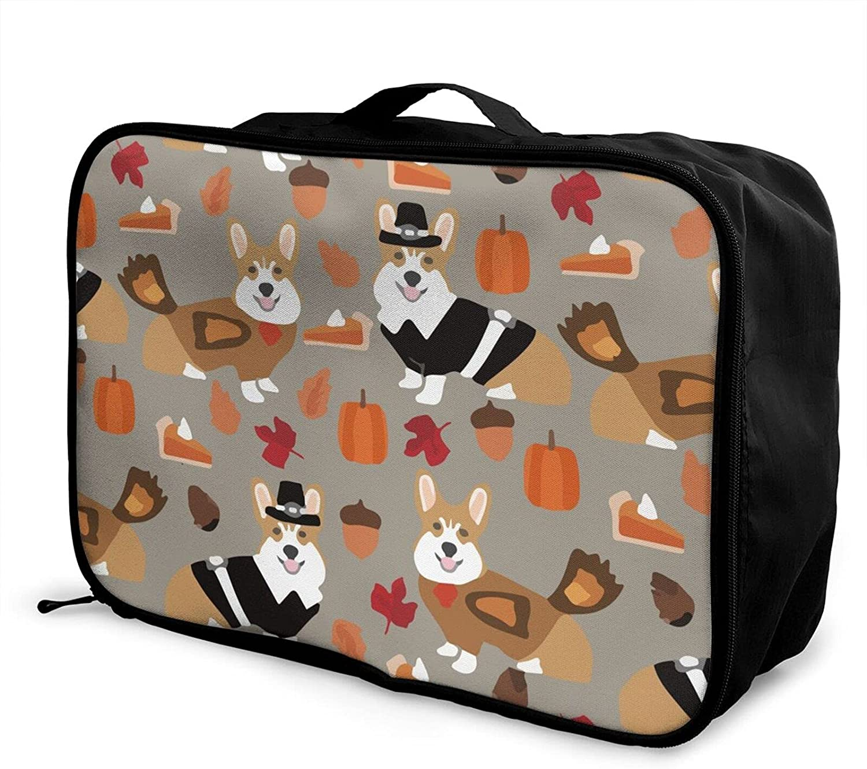 Foldable Travel Bag Tote Corgi Surprise price Popular standard Dog Carry-On Thanksgiving Autumn